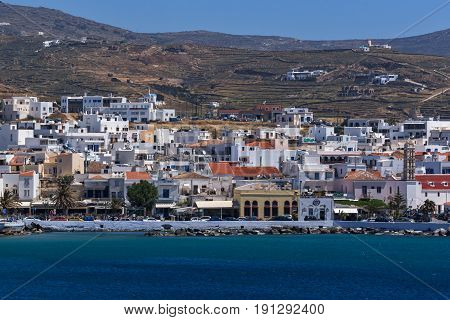 Panoramic view of Naxos Island, Cyclades, Greece