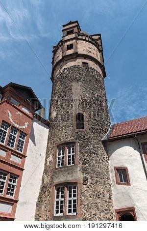 The Bergfried of Ronneburg in Wetterau, Hesse, Germany