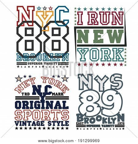 set t-shirt New York typography design graphic printing man NYC original design clothing clothing graphic design emblem