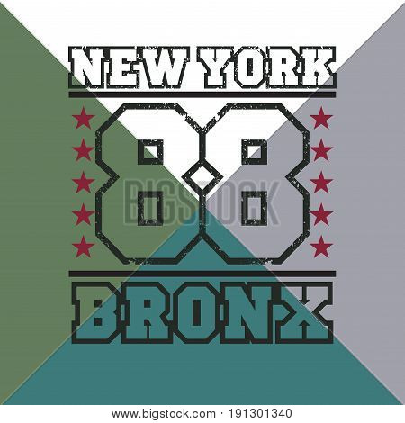 t-shirt New York bronx athletics Typography Fashion college sport design the logo the number of floral patterns graphic print image design fashion Typography original design clothing
