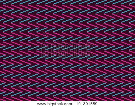 Seamless Background With Zigzags In Style Of 90S. Geometric Background. Vector Illustration