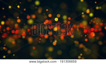 Abstract Beautiful Bokeh Background. Digital Bacdrop