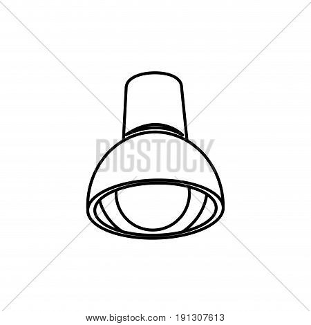 ceiling lamp bulb with electricity light vector illustration