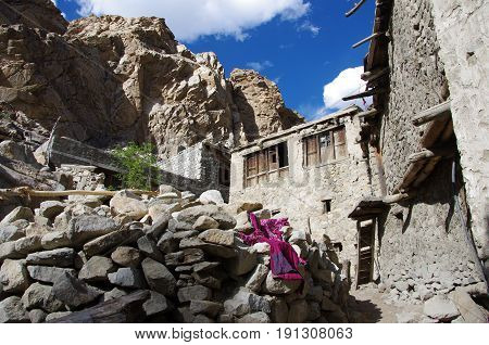 Traditional village neak Kargil in Ladakh, India