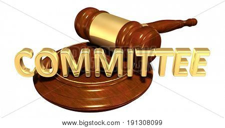 Committee Law Concept 3D Illustration