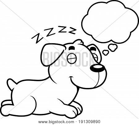 Cartoon Labrador Dreaming