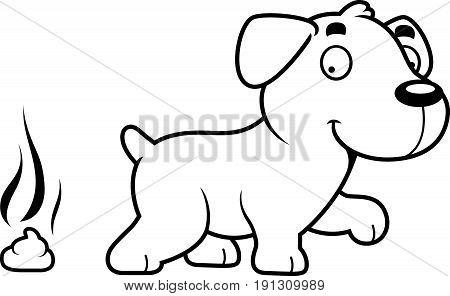 Cartoon Labrador Poop