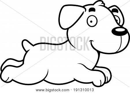 Cartoon Labrador Running