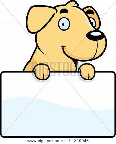 Cartoon Labrador Sign