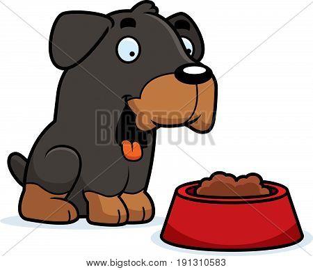 Cartoon Rottweiler Food
