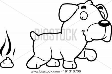 Cartoon Rottweiler Poop