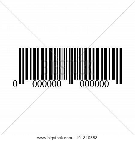 Bar code icon on white background vector illustration