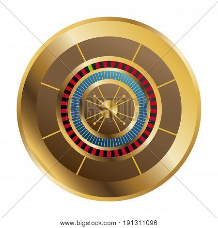 casino gambling roulette wheel playful vector illustration