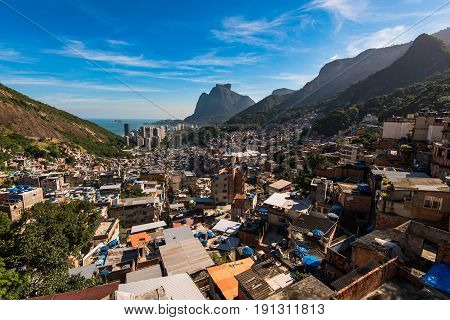 Rocinha is the Largest Favela in Brazil and Has Over 70,000 Inhabitants and is Located in Rio de Janeiro City