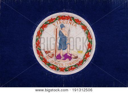 Flag Of Virginia Grunge