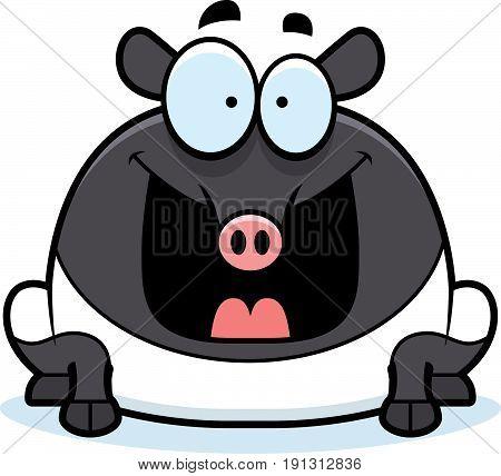 Happy Cartoon Tapir