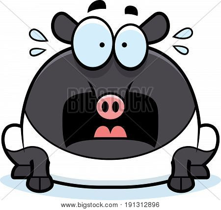 Scared Cartoon Tapir