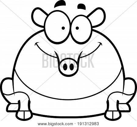 Smiling Cartoon Tapir