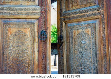 Wooden Carved Door, Samarkand