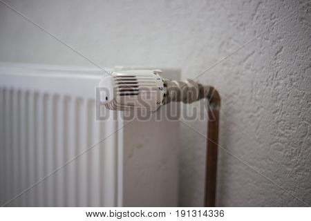 Radiator, Heating Solid Fuel, The Valve Of The Radiators Turned Up All The Way, Winter In Their Home