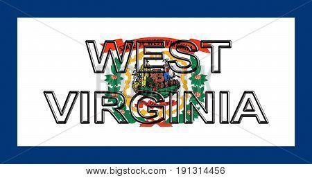 Flag Of West Virginia Word