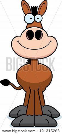 Smiling Cartoon Donkey