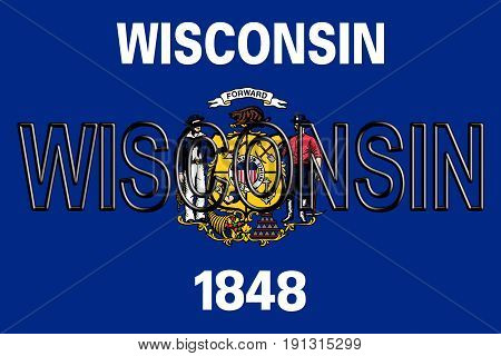 Flag Of Wisconsin Word
