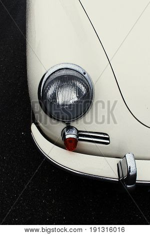 RADOLFZELL AM BODENSEE, GERMANY -  SEP 28: Detail of a sportscar at a car rally September 28, 2012, Lake Constance region.