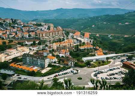 Bird's-eye view of Lamego, Portugal.