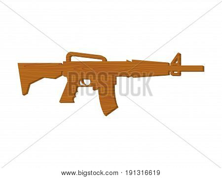 Wooden Gun Kids. Board Weapons. Childrens Military Toy