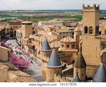 Medieval Village of Olite In Navarre, Spain