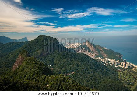Tijuca National Forest Mountains in Rio de Janeiro, View From Pedra Bonita