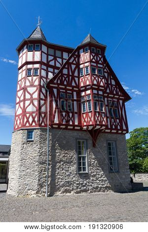 Timbergrame building Haus Staffel Limburg Hesse Germany