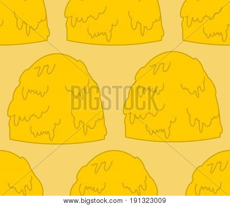 Haystack Pattern. Hay Stack Background. Arable Land Texture. Agricultural Ornament