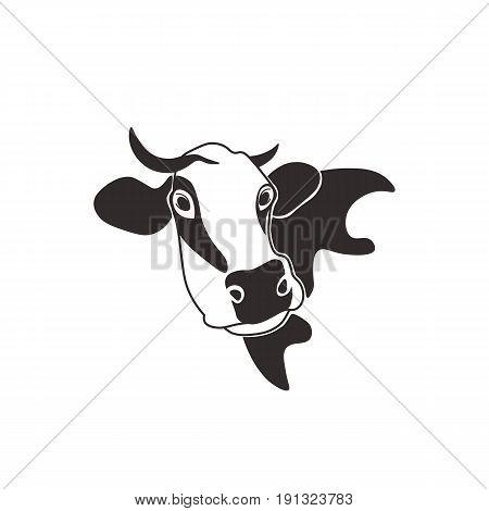 cow head cattle silhouette milk beef farm animal nature