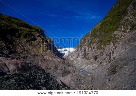 franz joseft glacier important traveling destination in south island new zealand