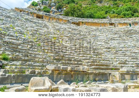 The Seats Of Ancient Theater