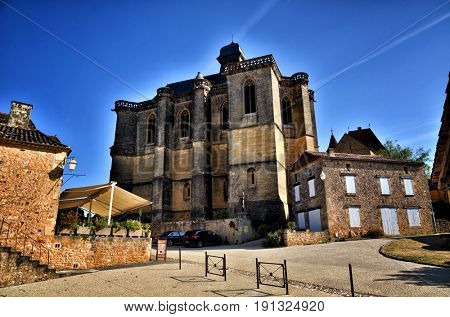 The picturesque castle of Biron in Dordogne, France