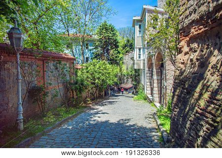 The Soguk Cesme is a small street with historic houses in the Sultanahmet goes from Topkapi palace to Gulhane park of Istanbul