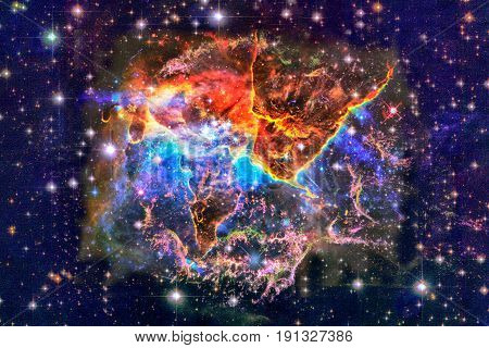 Mystic Mountain In Outer Space.
