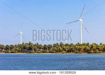 Wind Turbines Kalpitiya, Sri Lanka