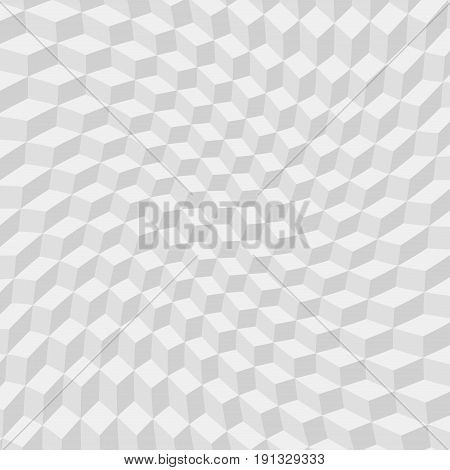 Abstract twist gray cube on white background