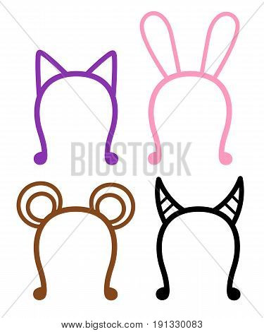 Hoop On Head Set Vector Illustration Hoop Ears
