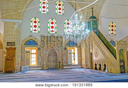 Interior Of Tekeli Mehmet Pasa Mosque In Antalya
