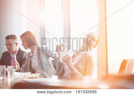 Business people on lunch break