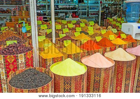 The Spice Stall In Tourist Market