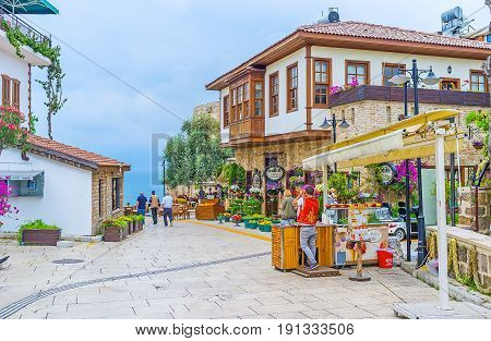 The Tourist Streets Of Antalya