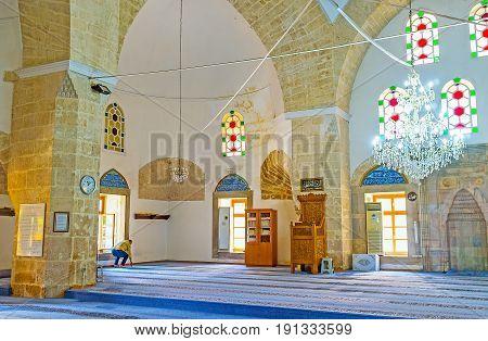 In Mosque Of Antalya