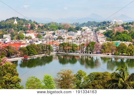Kandy Lake And City