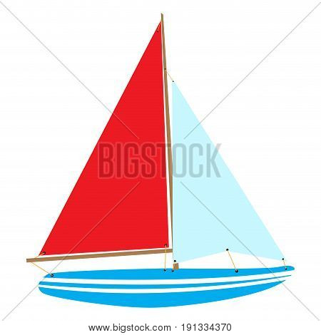 Isolated vessel toy on a white background, Vector illustration